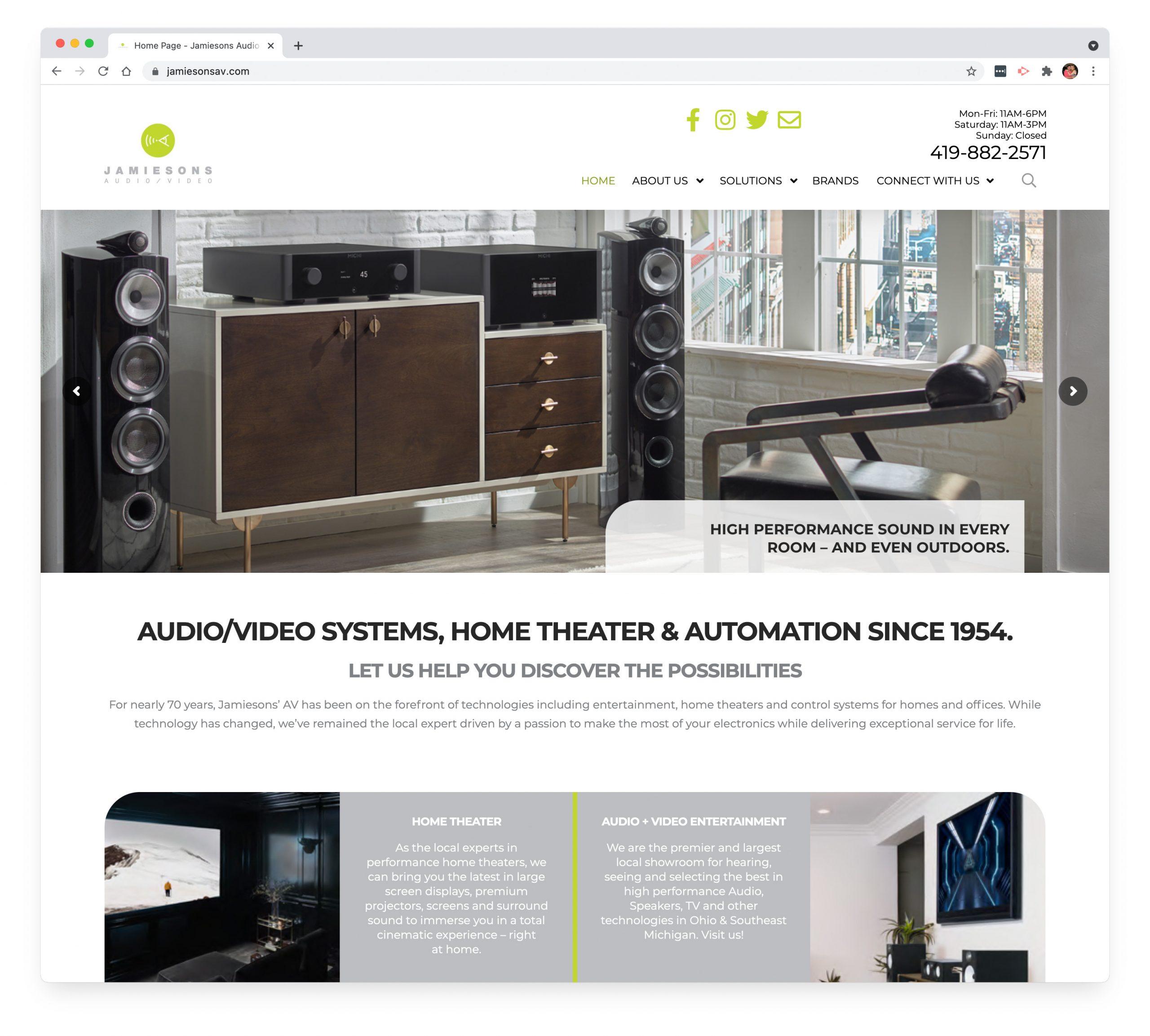 Jamiesons AV Home Page